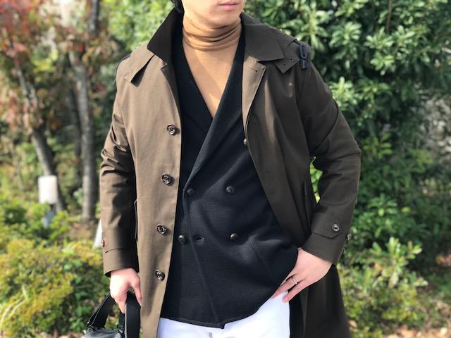 インナー使いが見せ所! 【LARDINI】のダブルブレスト ニットジャケット!!