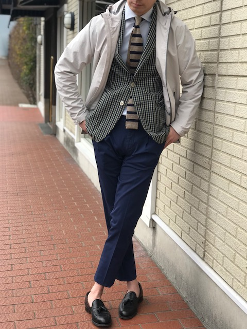春の羽織りは軽めのナイロンブルゾン②! 【HERNO】パウダーコーティングパーカーブルゾン!!