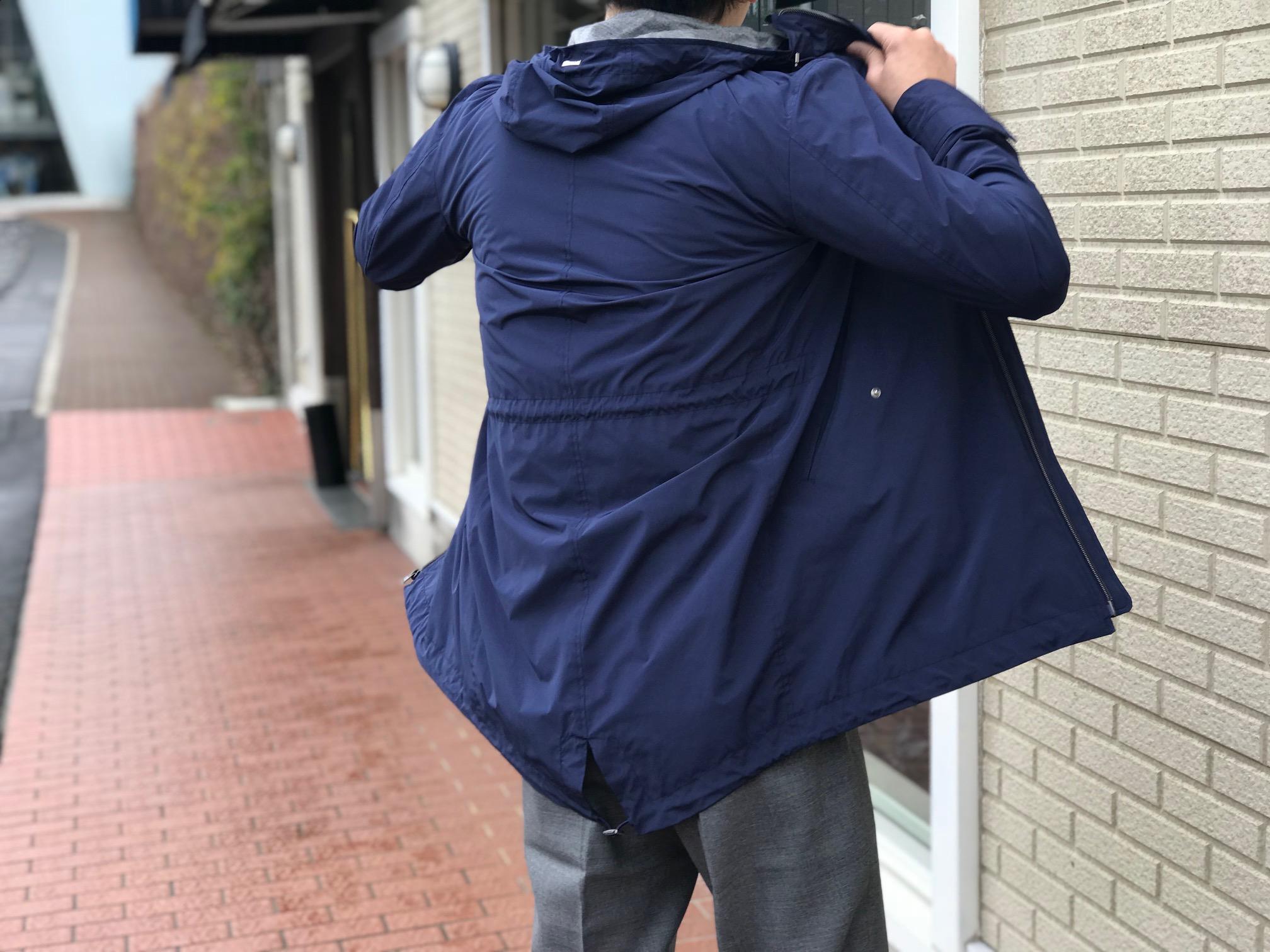 春の羽織りは軽めのナイロンブルゾン③! 【HERNO】ナイロン モッズコート!!