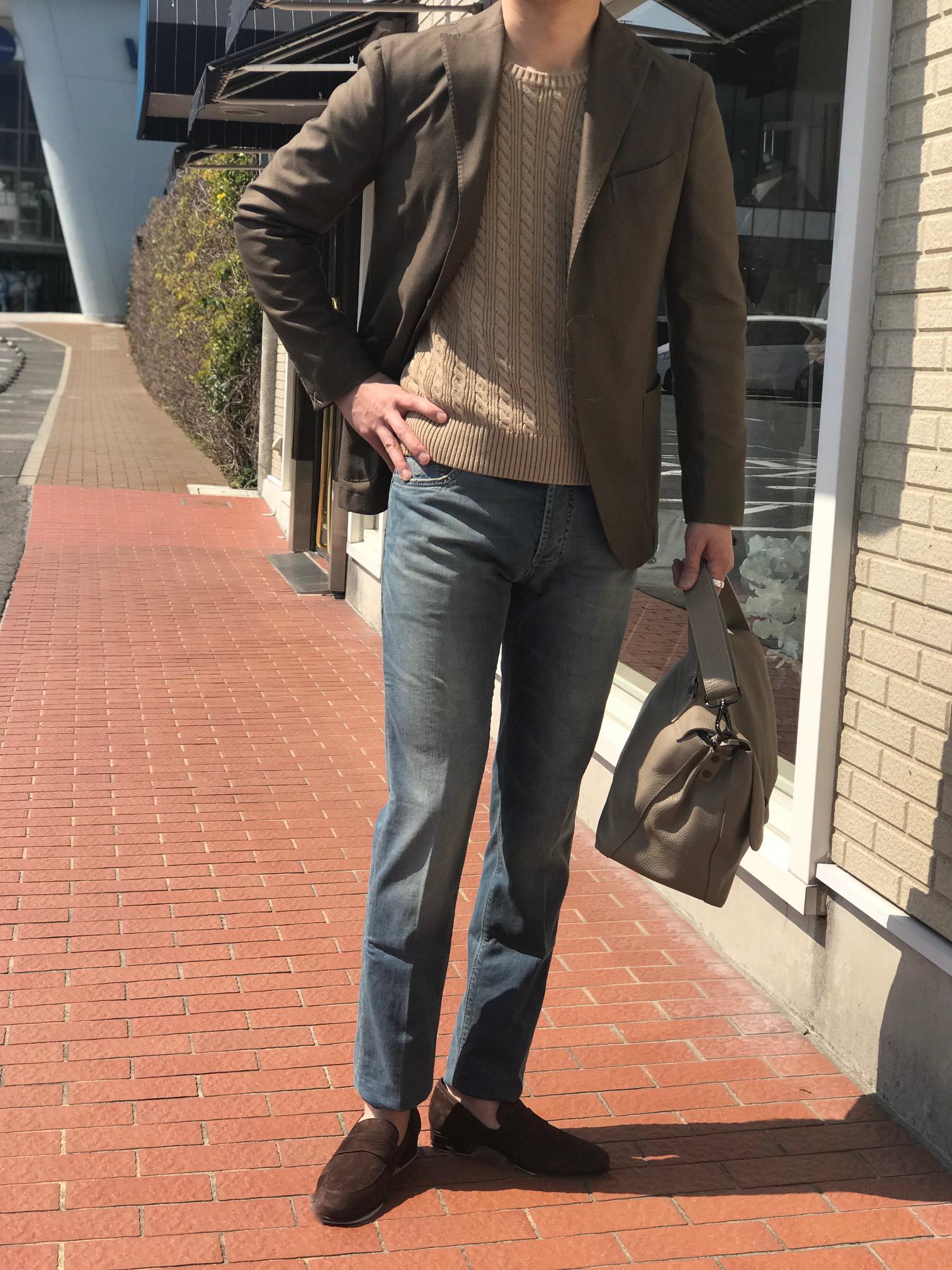 デニムに合わせるジャケットスタイル! 【BOGLIOLI】「K.JACKET」バーズアイ柄&ガーメントダイジャケット!!