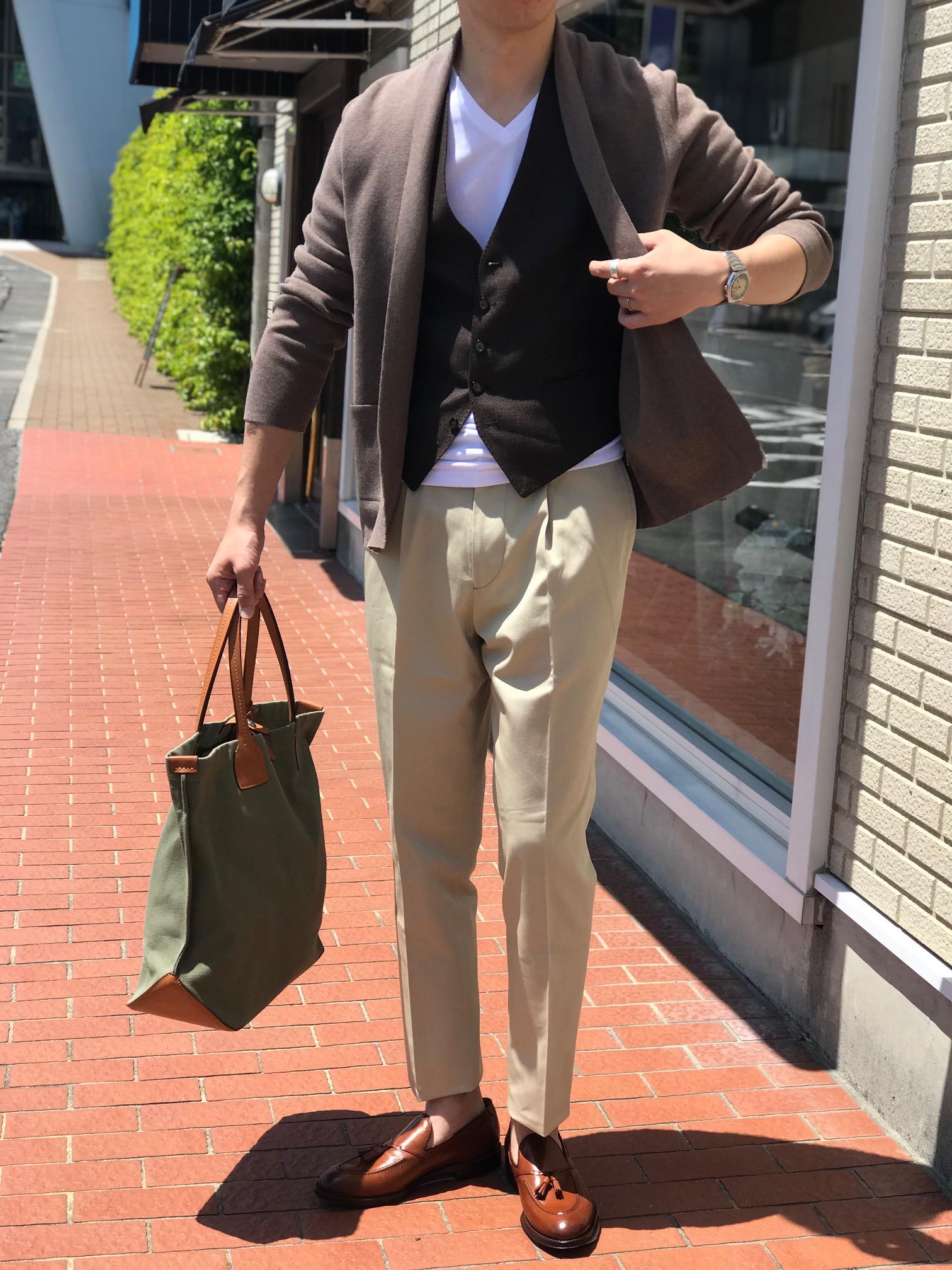 カーディガン以上ジャケット未満の便利な羽織りもの②! 【Gran Sasso】ミラノリブ編みボタンレスカーディガン!!