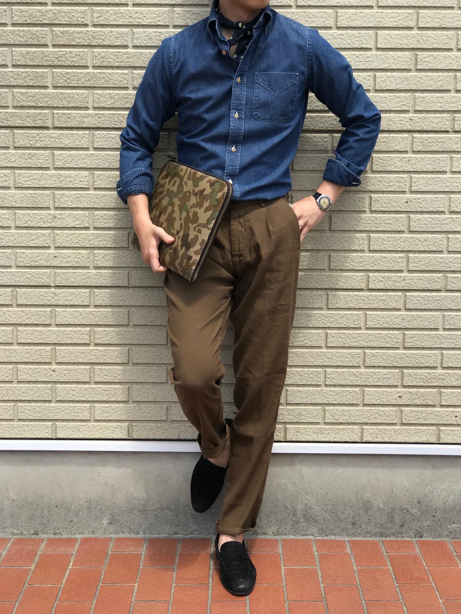 ブルゾンのように着こなすシャツ!【BOLZONELLA/ボルゾネッラ】「S6DUSTIN KIOVB」 デニム地ボタンダウンカラーシャツ!!