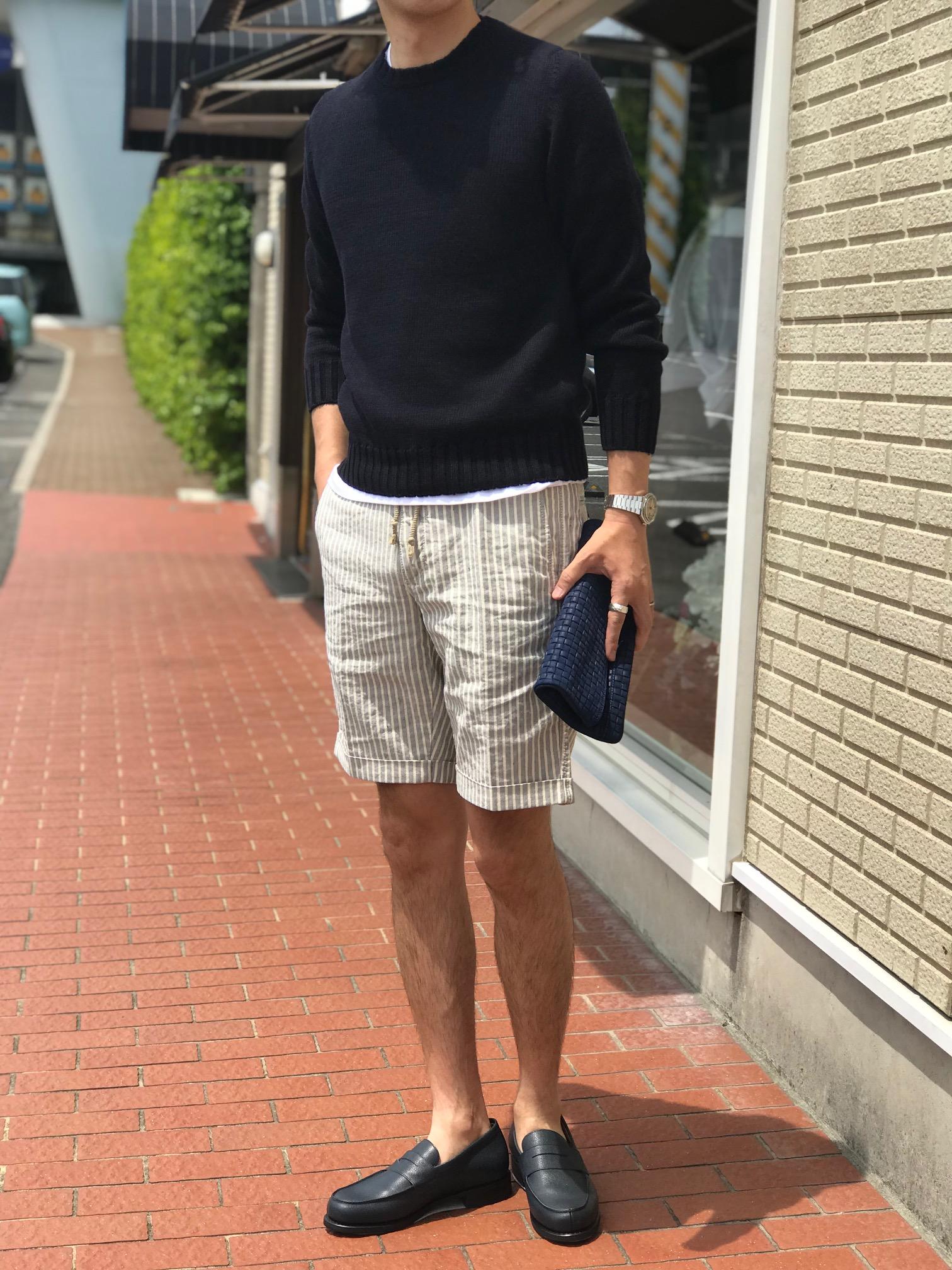真夏に着たい、まさにサマーニット! 【Settefili Cashmere】「RAMA6H」リネン・コットン ラウンドカラーサマーニット!!