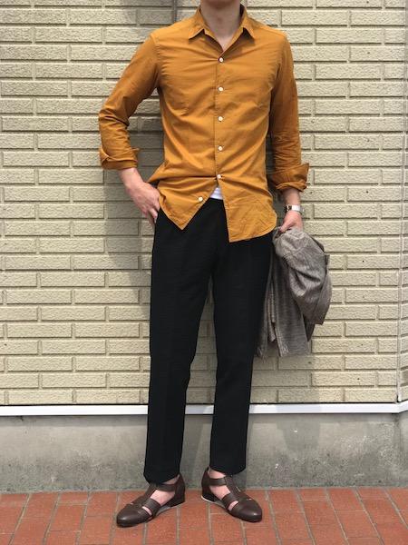 自然と気分がそうさせる! 【Bagutta】「JOHNNY」台襟付きワンピースカラーシャツ!!