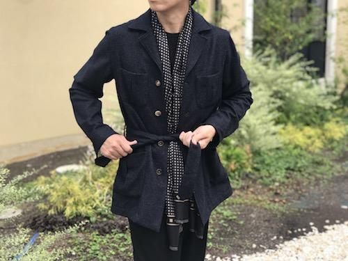 緊張感のあるジャケットではなく、 コートほど大袈裟でもない! De Petrillo/デ ペトリロのブッシュジャケット「SAHARIANA」!!