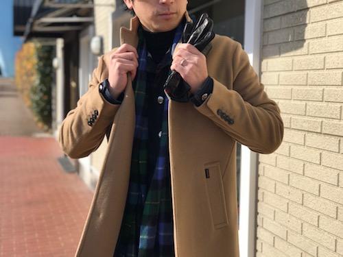 大人びたチェスターコートはミックスコーデで! 【PALTO】ソフトメルトン地 チェスター型コート!!