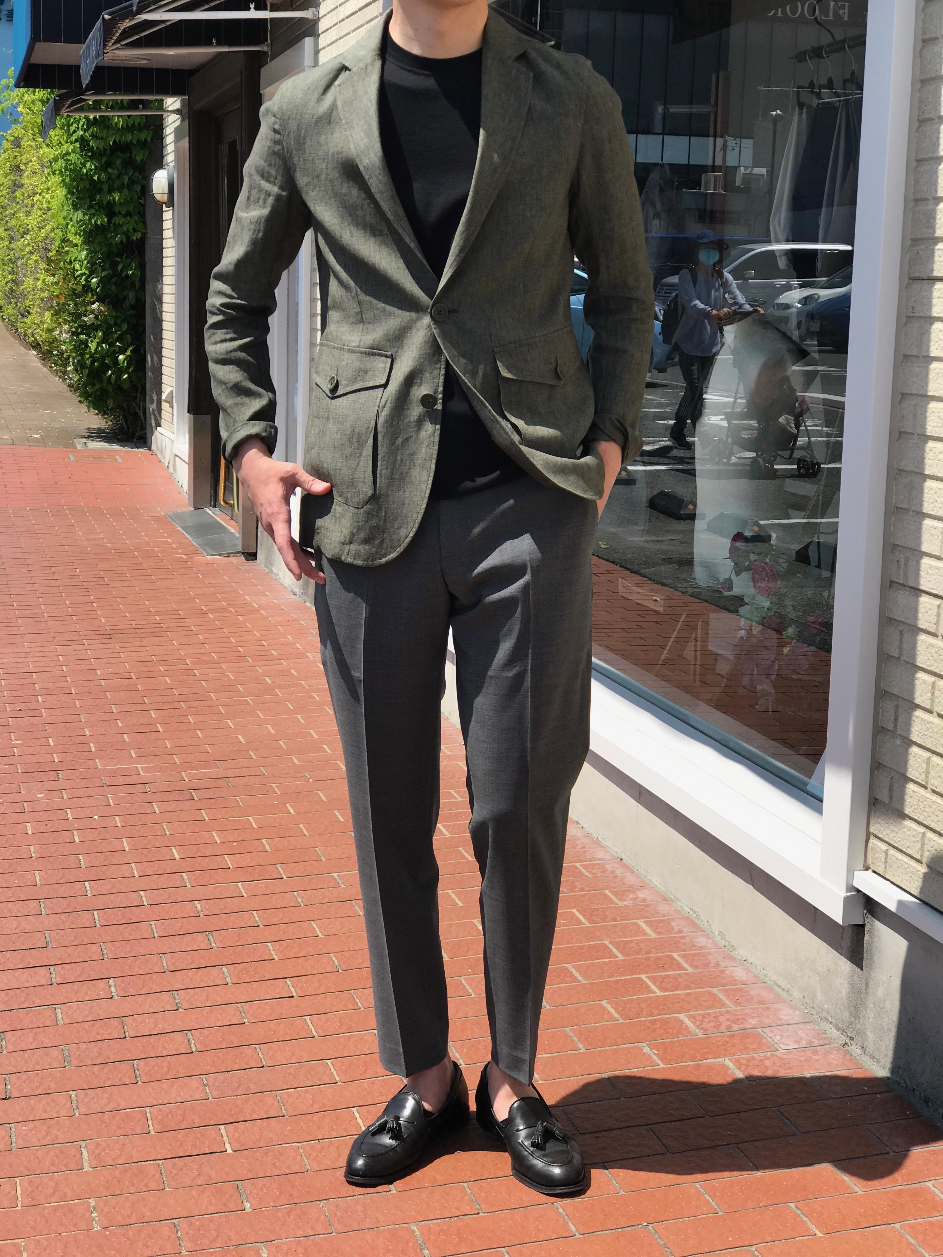 夏にさらりと着こなすシャツのようなブルゾン型ジャケット! HERNO/ヘルノのメランジ調リネンジャケット!!