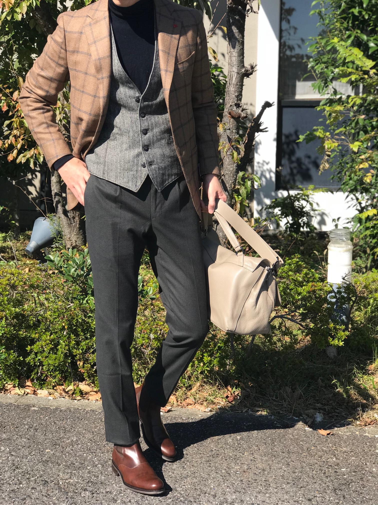 今年気になるパンツの新しい提案③! 【INCOTEX】コットンストレッチ ミニチェック柄パンツ!!